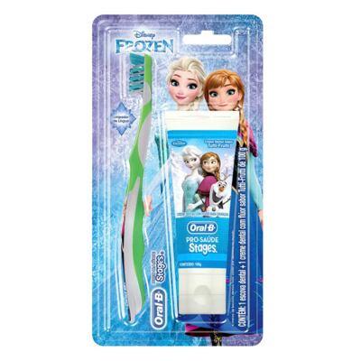 Imagem 1 do produto Kit Oral-B Stages Frozen Escova Dental + Creme Dental Tutti-Frutti 100g