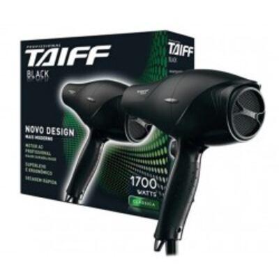 Imagem 1 do produto Secador de Cabelos Taiff Black com 1700w, 5 temperaturas e 2 velocidades - 110V