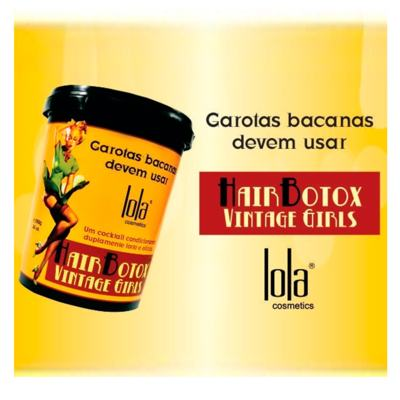 Imagem 2 do produto Lola Cosmetics Vintage Girls - Creme Alisante - 100g