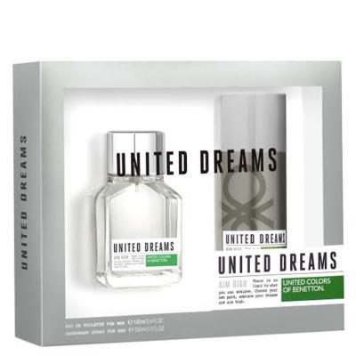 Kit United Dreams Aim High Benetton Eau de Toilette Masculino - 100 ml