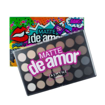Imagem 3 do produto Paleta De Sombras Matte De Amor 28 Cores Jasmyne - 1 kit