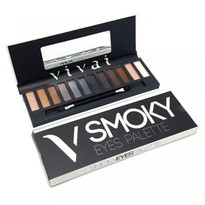Imagem 1 do produto Paleta De Sombras Smoky Eyes de Vivai - 12 Cores