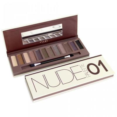 Paleta de Sombras Nude Glamour 01 Vivai - 12 Cores