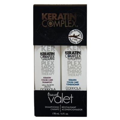 Kit Keratin Complex Smoothing Therapy Keratin Color Care Travel Valet - Kit