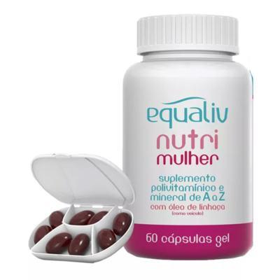 Imagem 2 do produto Nutri Mulher Equaliv - Suplemento Polivitamínico - 60 Cáps