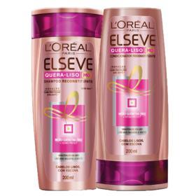 Kit Shampoo + Condicionador Elseve Quera-Liso MQ - Lisos Com Escovas | 2 unidades