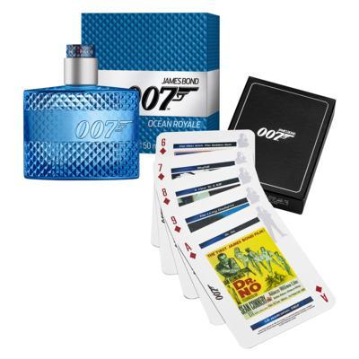 Ocean Royale James Bond - Masculino - Eau de Toilette - Perfume + Jogo de Cartas - Kit