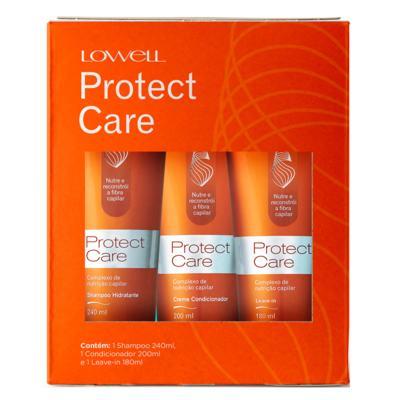 Lowell Protect Care Kit– Shampoo + Condicionador + Leave-In - Kit