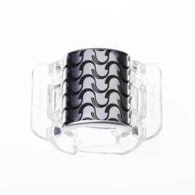Prendedor de Cabelos Linziclip Core - Silver Metallic Wave
