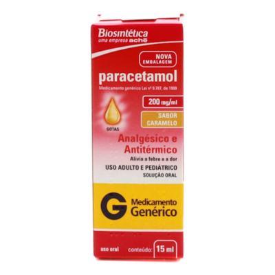 Paracetamol Gotas Genérico Biosintética (Aché) - 200mg/ml | 15ml