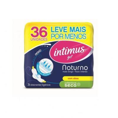 Imagem 4 do produto Absorvente Intimus Gel Noturno Cobertura Seca C/Abas - 36unidades -