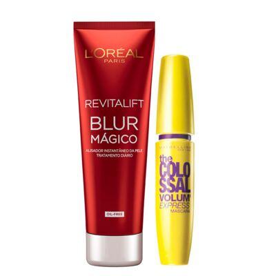 Imagem 1 do produto Kit Revitalift Blur L'Oréal Paris + The Colossal Volum' Express Maybelline - Kit