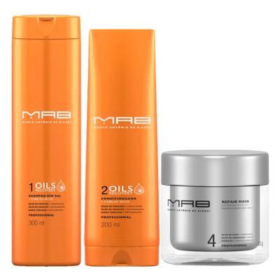 Imagem 2 do produto MAB Oils Recovery Reparação Kit - Shampoo + Condicionador + Máscara Capilar - Kit