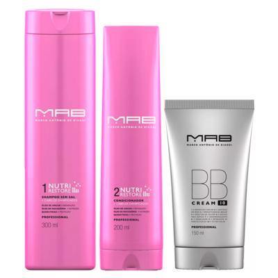 Imagem 1 do produto MAB Nutri Restore + BB Cream Kit - Shampoo + Condicionador + Leave-in BB Cream - Kit