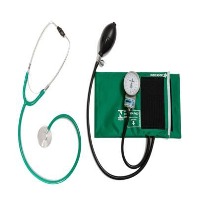 Imagem 1 do produto Kit Aparelho de Pressão Verde Com Esteto Simples Verde CJPA103 PA MED