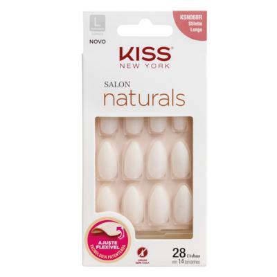 Imagem 1 do produto Unhas Postiças Kiss New York - Salon Natural Longo Estileto - 1 Un