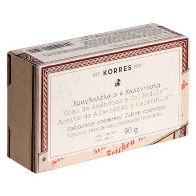 Imagem 1 do produto Sabonete Cremoso Korres - Amêndoas e Calêndula - 90g