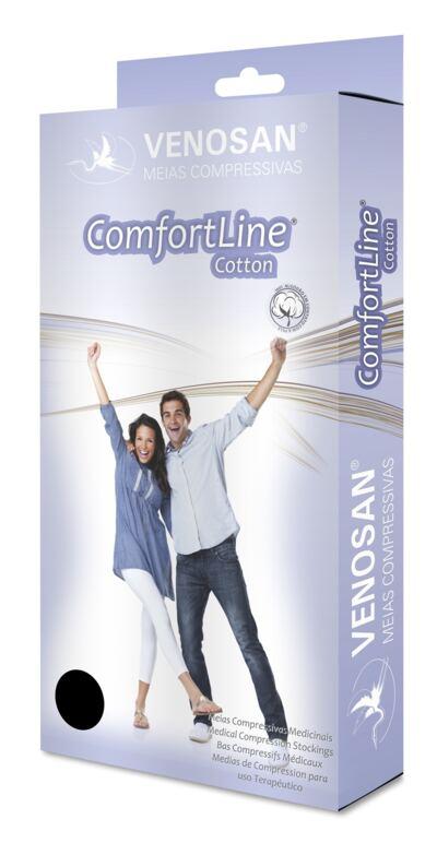 Imagem 1 do produto Meia Panturrilha AD 30-40 Comfortline Cotton Venosan - LONGA PONTEIRA ABERTA BEGE XXG