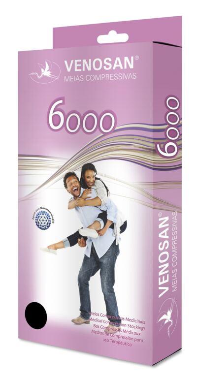 Imagem 1 do produto Meia Calça AT 30-40 mmHg 6000 Venosan - PONTEIRA ABERTA BEGE M