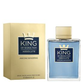 King of Seduction Absolute Antonio Banderas - Perfume Masculino - Eau de Toilette - 200ml