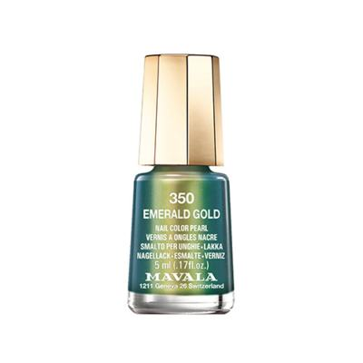 Esmalte  Mavala Mini Color Cintilante - 350 - Emerald Gold | 5ml