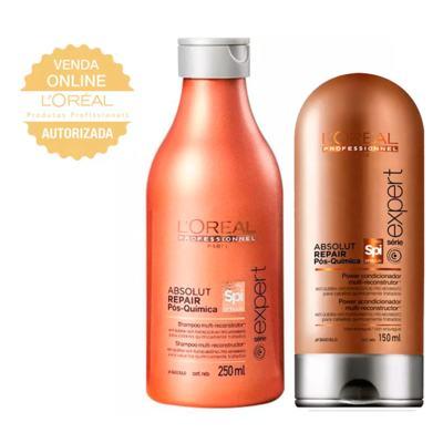 Imagem 1 do produto L'Oréal Professionnel Absolut Repair Pós Química Kit- Shampoo + Condicionador - Kit