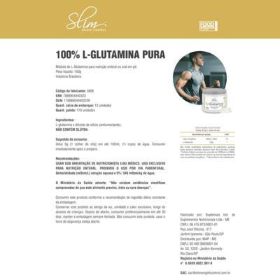 Imagem 2 do produto 100% L-GLUTAMINA PURA 150G SLIM - BAUNILHA -