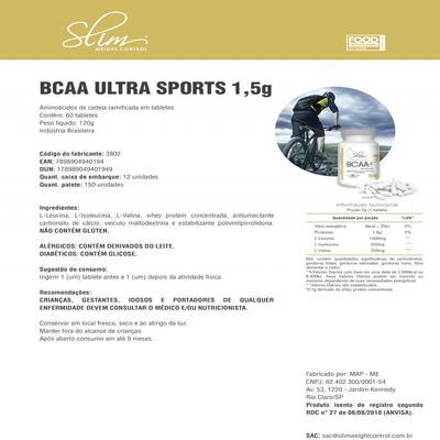 Imagem 3 do produto BCAA ULTRA SPORTS 1,5 G 60 TABS - SLIM -