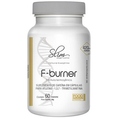 F-BURNER 60CAPS (Cafeína 420mg por caps) - SLIM -