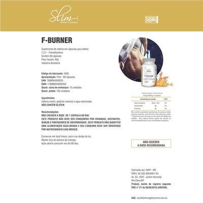 Imagem 2 do produto F-BURNER 60CAPS (Cafeína 420mg por caps) - SLIM -