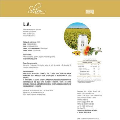Imagem 2 do produto L.A. OLEO DE CARTAMO 100 CAPS - SLIM -