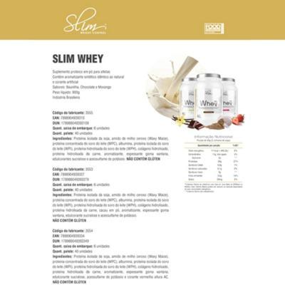 Imagem 2 do produto SLIM WHEY BLEND 900G - SLIM - MORANGO -