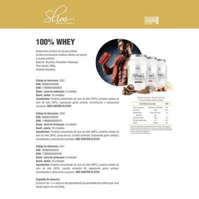 Imagem 1 do produto Whey 100% 900g - Slim - Baunilha Grátis uma Coqueteleira. -