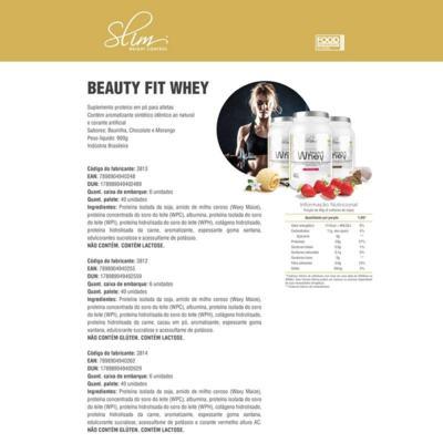 Imagem 4 do produto Kit Slim Beuty Fit Whey Chocolate 900g + Shake Diet Chocolate 300g + Colágeno 100 caps - Slim -