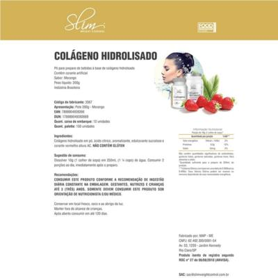 Imagem 3 do produto kit Slim Shake Diet Morango 300g + Reductor abdômen 60 caps + Colágeno 100 caps - Slim -