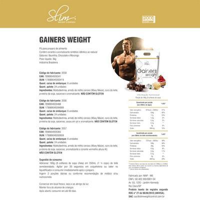 Imagem 4 do produto Kit Slim Gainers Weight Chocolate 3kg + 01 Pré Treino 250g + 01 Creatina Pura 100g - Slim -