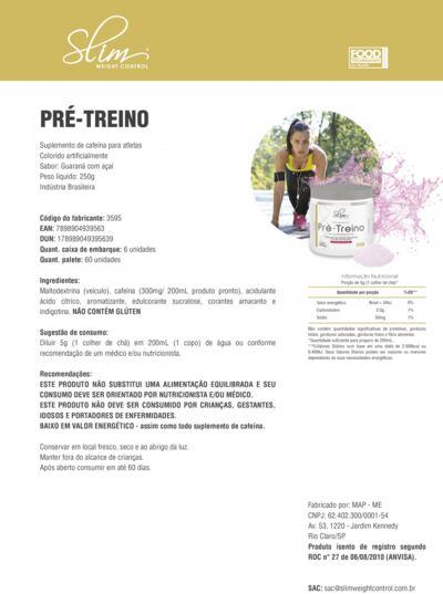 Imagem 2 do produto Kit Slim Gainers Weight Morango 3kg + 01 Pré Treino 250g + 01 Creatina Pura 100g - Slim -