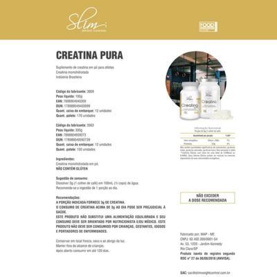 Imagem 3 do produto Kit Slim Gainers Weight Morango 3kg + 01 Pré Treino 250g + 01 Creatina Pura 100g - Slim -
