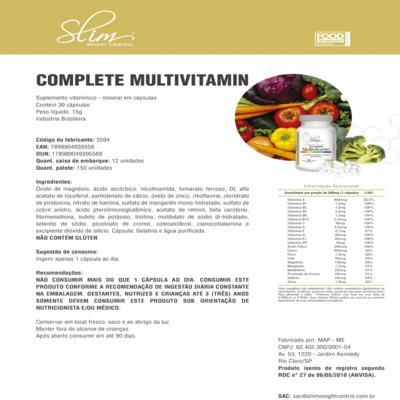 Imagem 4 do produto Kit Slim Ômega 3 60 caps + 01 Complete Multivitamin 30 caps + 01 Picolinato de Cromo 100 caps - Slim -