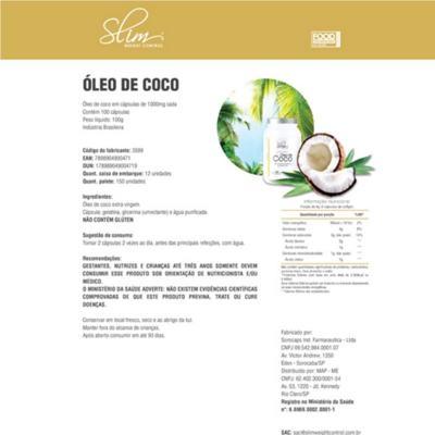 Imagem 3 do produto Combo Slim Óleo de Coco 100 caps + 01 Body Reductor 30 softgel + 01 Thermo em pó diet 120 g - Slim. -