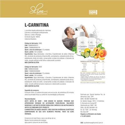 Imagem 2 do produto Kit Slim L-carnitina 480ml + Picolinato De Cromo 100caps + óleo De Cartamo 100caps + Coqueteleira - Slim -