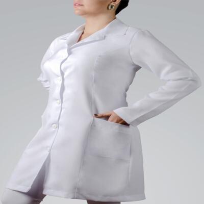 Imagem 1 do produto JALECO FEMININO MANGA LONGA OXFORD - P