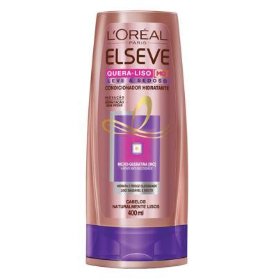 Imagem 1 do produto L'Oréal Paris Elseve Quera-Liso Leve e Sedoso - Condicionador Hidratante - 400ml