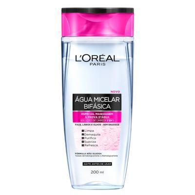 Água Micelar Bifásica Solução de Limpeza Facial 5 em 1 L'Oréal Paris - 200ml