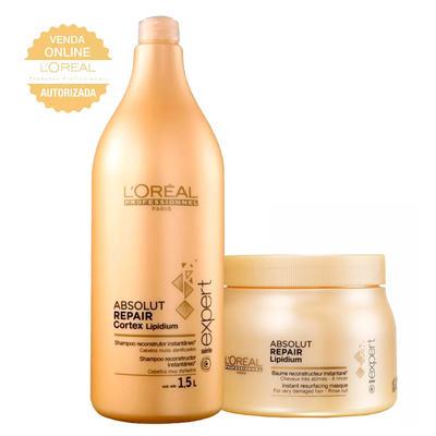 Imagem 1 do produto L'Oréal Professionnel Absolut Repair Pós Química Kit - Shampoo 1,5L + Máscara 500g - Kit