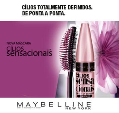 Imagem 4 do produto Máscara para Cílios Maybelline Cílios Sensacionais Waterproof - Preto