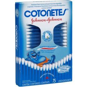 Hastes Flexíveis Cotonetes - 75 unidades