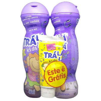 Kit Trá Lá Lá Kids Shampoo + Condicionador + Grátis Gel Dental Trá Lá Lá Kids