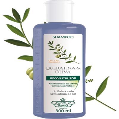 Shampoo Queratina & Oliva Reconstrutor Flores e Vegetais 300ml