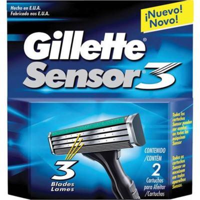 Imagem 1 do produto Carga para Aparelho de Barbear Gillette Sensor3 2 unidades